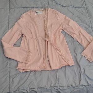 Blush pink old Navy sweater top for girls medium